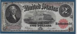 Etats Unis - 2 Dollars - 1917 - Pick N°188 - B/TB - Large Size - Grande Taille (...-1928)