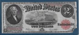 Etats Unis - 2 Dollars - 1917 - Pick N°188 - B - Large Size - Tamaños Grandes (...-1928)