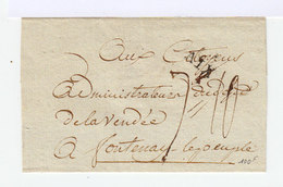 Enveloppe Avec Marque Postale D'Aix En Provence. Cachet Du Département Des Bouches Du Rhône. (507) - Marcophilie (Lettres)