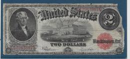 Etats Unis - 2 Dollars - 1917 - Pick N°188 - B - Large Size - Grande Taille (...-1928)