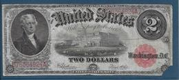Etats Unis - 2 Dollars - 1917 - Pick N°188 - B - Billets Des États-Unis (1862-1923)