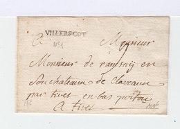 Enveloppe Avec Marque Postale De Vellers Cotterets.  (508) - Marcophilie (Lettres)