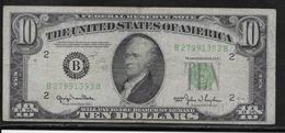Etats Unis - 10 Dollars - 1950 - Pick N°439 - TB - Small Size (1928-...)