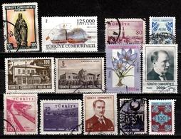 Türkei Lot Mit 13 Versch. Gestempelt (4031) - Briefmarken