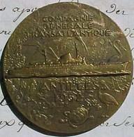 MEDAILLE Bronze ,COMPAGNIE GENERALE TRANSATLANTIQUE PAQUEBOT ANTILLES 1952 ,R. DELAMARRE SS Antilles Cruise Ship MEDAL - Professionnels / De Société