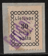 Lietuvos, 1918, No. 6 , Scarce Cancel , #a405 - Lituanie
