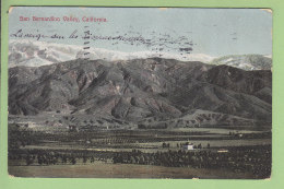 SAN BERNARDINO Valley , 1907. 2 Scans. Newman Post Cards - San Bernardino