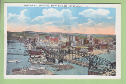 PITTSBURGH : The Point Showing New Bridge. 2 Scans. Minsky - Pittsburgh