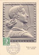 Carte-Maximum FRANCE N° Yvert 1010 (MARIANNE De MULLER) Obl Sp Art Graphique (Ed PR) - 1950-59