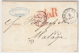 Hamburg, 1840 Nach Spanien , #a414 - Hamburg