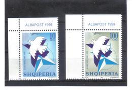 OST1383 ALBANIEN 1999  MICHL 2683/84 ** ECKRAND Postfrischer SATZ SIEHE ABBILDUNG - Albanien