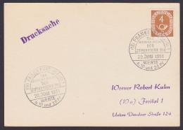 Ziffernserie Sonderstempel Zur 1. Ausgabe Frankfurt (Main) 20.Juni 1951 FDC 124, 4 Pf. - FDC: Enveloppes
