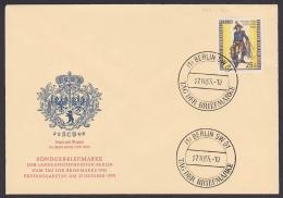 Preuss. Feldpostillion 1760, Berlin-West 131 FDC, SoSt. Berlin SW61 Tag Der Briefmarke 1955 - Cartas