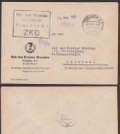 Dresden ZKD Kastenstempel In Schwarz Statt Violett, Rat Des Kreises Logo 7-Jahr-Plan Nach Potsdam 1963 - Oficial