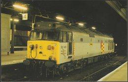 British Rail Railfreight Class 50 No 50149 Defiance At Exeter St Davids - Exe Rail Postcard - Trains