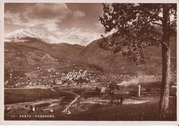 Aosta Panorama Stazione Ferrovia Stabilimento Cogne Fg - Italia