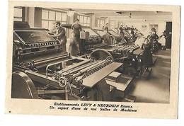 75 LEVY NEURDEIN SALLE DES MACHINES EDITEUR DE CARTES POSTALES IMPRIMEUR 1926 CPA 2 SCANS - Publicité