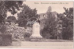 Aosta Monumento Umberto 1 Piazza Stazione - Italia