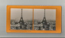 PARIS (75) 100  EXPOSITION 1900 PHOTO STEREOSCOPIQUE DU CHAMP DE MARS  (TOUR EIFFEL) COLLECTION FELIX POTIN - Stereoscopic