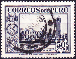 Peru - St.-Markus-Univerität, Lima (MiNr: 363) 1937 - Gest Used Obl - Peru
