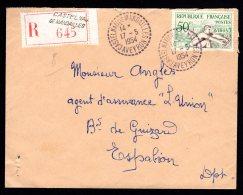 Lettre Recommandé De CASTELNAU-de-MANDAILLES Du 17/05/1954 - Marcophilie (Lettres)
