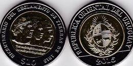 Uruguay - 10 Pesos 2015 UNC Land Regulation Comm. Ukr-OP - Uruguay