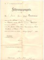 Attestation Militaire De 1910 - Armée Allemande  - Eupen, Aachen, Saarlouis  (nod1) - Documents
