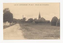 62 COULOGNE - Route Du Colombier - Animé - Cpa Pas De Calais - France