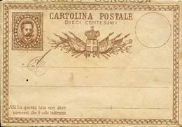 D ITALIA REGNO - 1 Bustina + 1 Cartolina Postale Con Imitazione A Mano Del C.20 Umberto I - Curioso Insieme - Ottima Qua - Stamps