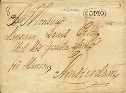 """B L.Veneto - Da Barna (Como) Ad Amsterdam Del 22.4.1785 Con """"Como"""" In Ovale (p.11) + Tasse - Ottima Qualità - P.V. - Fot - Stamps"""