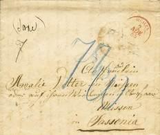 B Napoli - Dal Regno Di Napoli (verosimilmente) A Missen (Sassonia) - Con Bolli Vari Anche Al Retro Oltre A Quello Di Fr - Stamps