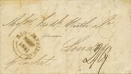 B Brasile - Da Rio Janeiro A Londra Del 29.11.1841 Con Bolli E Tassa - Ottima Qualità - P.V. - Foto - (59365F) - Stamps