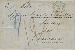 B Germania - Da Berlino A Carrara Del 15.5.1865 Indirizzata Allo Scultore Carlo Baratta (1790-1877) Con Bolli (anche Al  - Stamps