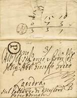 B Spagna - Da Madrid A Londra Dell'8.6.1716 Con Bolli Recto/verso + Tasse - Ottima Qualità - P.V. - Foto - (59337F) - Stamps