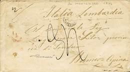B Uruguay - Da Montevideo A Bormio Cepina Del 9.7.1874 Con Bolli Vari (molti Al Verso) + Tassa - Ottima Qualità - P.V. - - Stamps