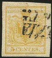 O C.5 Giallo Limone (I Tir.) N.1c - Sassone N.1c - Ann. Di Venezia - Ottima Qualità - A.D. - G.Oliva - En.D. (cert.1996) - Stamps