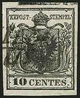 O C.10 Nero N.2 - Sassone N.2 - Impronta Di Spazio Tipografico In Alto - Buona Qualità - P.V. - Foto - (57761F) - Stamps