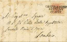 B Da Castiglione D'Intelvi A Sondrio Del 12.9.(1855) Con C.15 C.macchina N.20, Di Ottima Qualità - Sassone N.20 - Ann. S - Stamps
