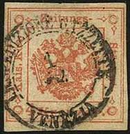 O Segnatasse Per Giornali - Kr.4 I Tipo Rosso Smorto N.4SG - Sassone N.4 - Ben Marginato Ma Con Lievi Assottigliamenti A - Stamps
