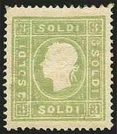 * S.3 Verde Giallo N.35 - Sassone N.35 - Ottima Centr. - Buona Qualità - En.D. - P.V. - Foto - (57774F) - Stamps