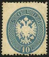 * S.10 Azzurro N.39 - Sassone 2017 N.39 = Euro 24.000,00 - Apparente Buona Qualità Ma Con Minimo Punto Chiaro Nell'aquil - Stamps
