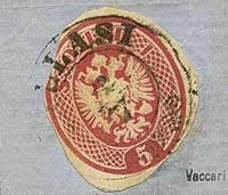 F Ritaglio Di Busta Postale Da S.5 N.10RBP Su Frammento - Sassone N.10 - Ann. Completo Di Illasi - Buona Qualità - P.V.  - Stamps
