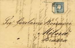 """B Da Venezia A Milnà (Brazza) Del 26.6.1863 Con S.15 II Tipo N.32 - Sassone N.32 - Ann. """"Da Venezia Col Vapore 26/6"""" - B - Stamps"""