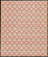 ** S.5/1864 N.43, Foglio Intero Di 100 Es. Con Fil. Al Centro - Sassone N.43 - Ottima Qualità - P.V. (cert.2018) - Foto  - Stamps
