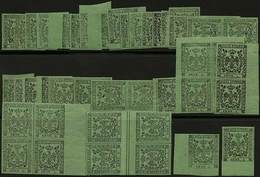 **/* 60 Es. C.5 Verde Senza Punto Dopo La Cifra (alcuni Con Punto) Anche In Blocchi Di 4, Strisce E Coppie - Alto Valore - Stamps