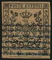"""O Segnatasse Per Giornali C.9 Violetto Grigio, Lettere """"B.G."""" Grandi N.2SG - Sassone 2018 N.1 = Euro 5.500,00 - Ann. A 6 - Stamps"""