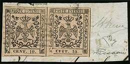 """F C.10 Rosa Con Punto Dopo La Cifra, Coppia In Cui Il Primo Es. Con Errore Tipografico """"CE6T.10"""" N.15E - Sassone N.9d -  - Stamps"""
