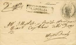 """B Da Puglianella A Massa Ducale Del 1856 Con Ann. In Cartella """"Camporgiano"""" - Al Verso In Arrivo D.c. """"Massa Ducale 16 A - Stamps"""
