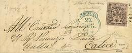"""B Da Modena Ad """"Aulla Per Calice"""" Del 27.6.1856 Con C.10 Rosa Con Punto Dopo La Cifra E Con Errore Di Composizione Tipog - Stamps"""