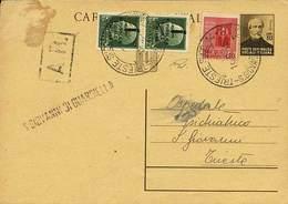 B Trieste AMG-VG - R.Ritorno Da Trieste Per Città Del 16.8.1945 Con Cartolina Postale RSI Mazzini C.30 - Interitalia N.1 - Stamps